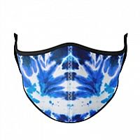 Blue Tie-Dye Adult Face Mask