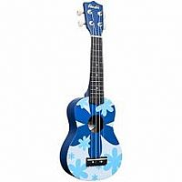 Ukulele Blue Flower