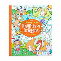 COLOR IN BOOK KNIGHTS AND DRAGONS