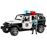 Jeep Rubicon Police Car and Light Skin Police Man