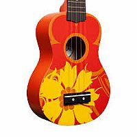 Ukulele Orange Flower